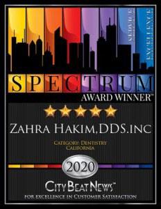 2020 Spectrum Award for Palo Alto Dentist Dr. Hakim